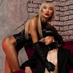 This dominatrix is ready for you